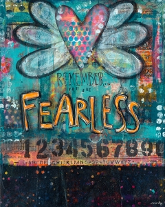 Fearless - Mixed Media c.2015 Mindy Armour