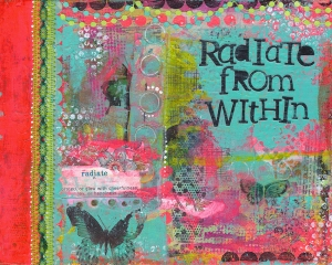 Radiate - Mixed Media c.2015 Mindy Armour